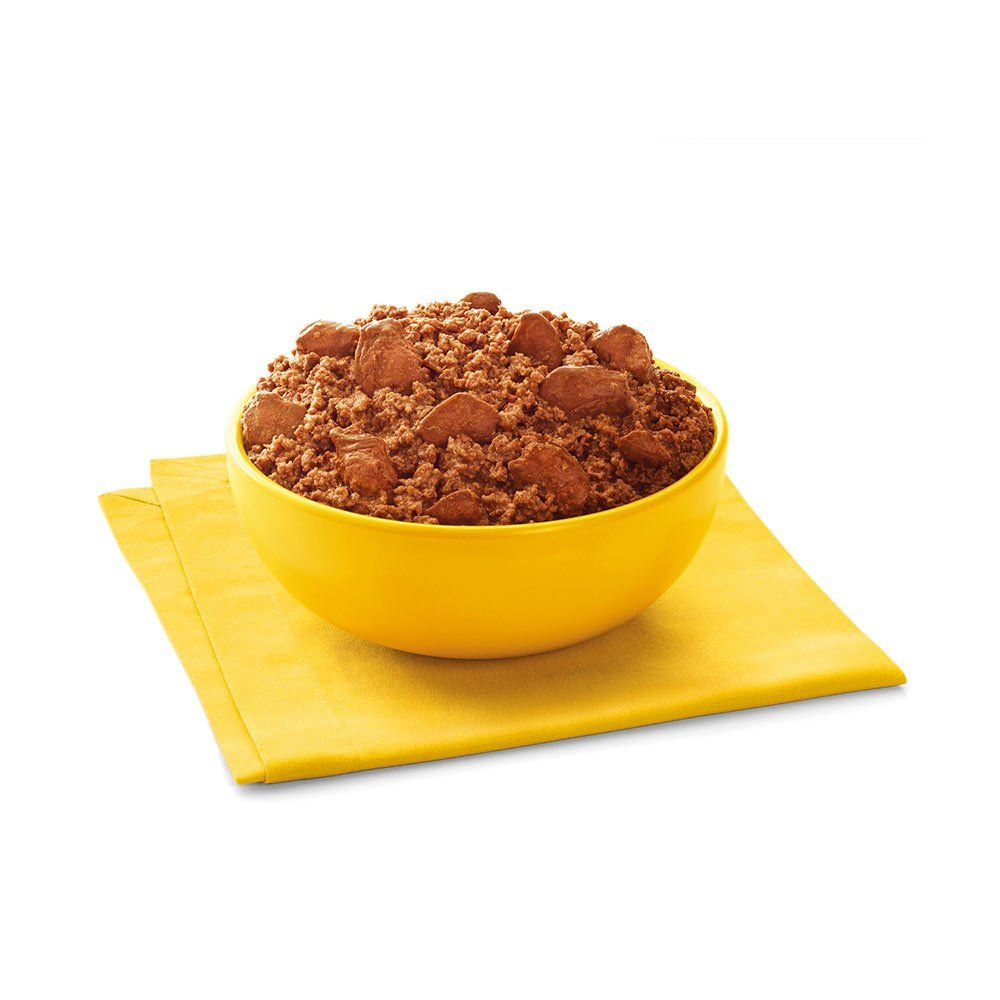 Pedigree chunky ground dinner with beef bacon and cheese