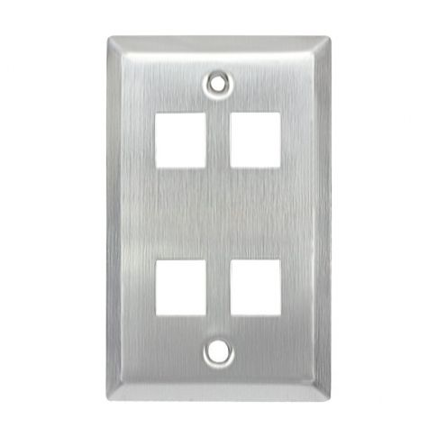 Stainless Wall Plate 1 Gang Cat5 Wall Plate 4 Ports Plates On Wall Steel Wall Wall