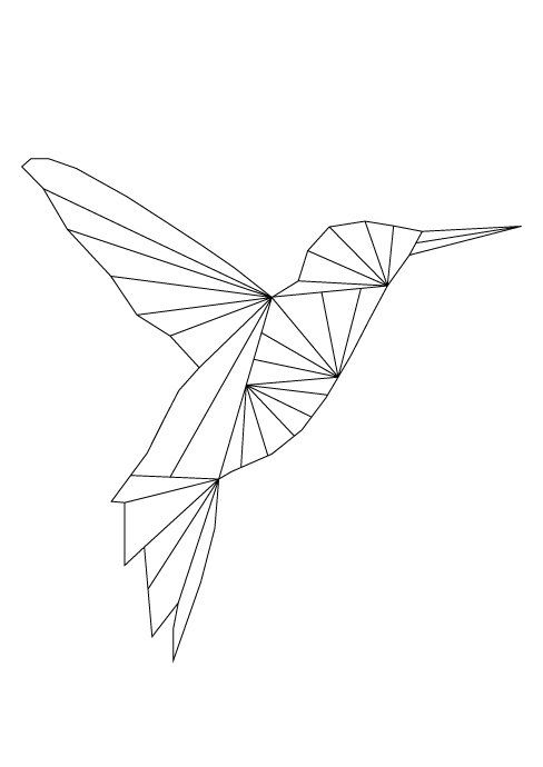 Impression D Art De Colibri Colibri Affiche De Colibri Colibri Geometrique Imprimable Colibri Art Mural Decor De Printemps Signes De L Ete Animaux Geometrique Art Colibri Dessin Origami