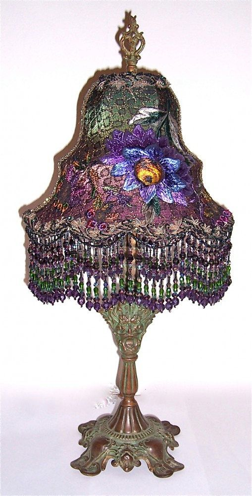 Sale Priced at 50 Off /// Victorian Greenman by peacockgypsy   Victorian lampshades, Victorian lamps, Victorian