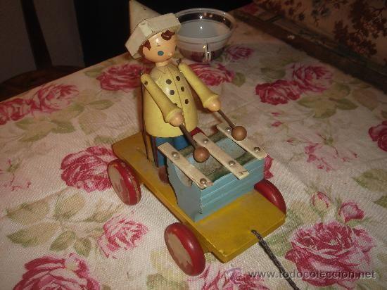PRECIOSIDAD.Muñeco de escuela. antiguo de madera y cuerda. Coleccionistas. - Foto 1