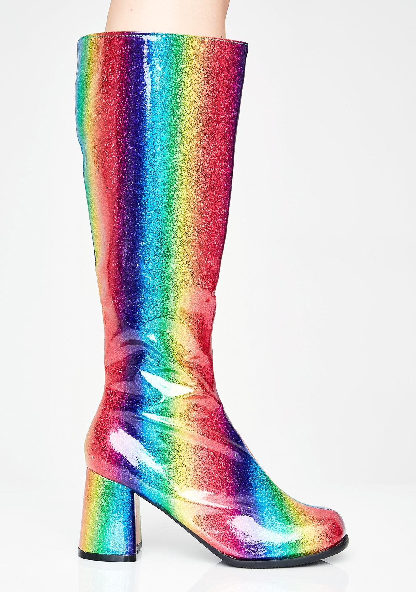 ee7b041536d Luv Drug Glitter Gogo Boots in 2019 | BagsHatsShoesEtc. | Boots ...