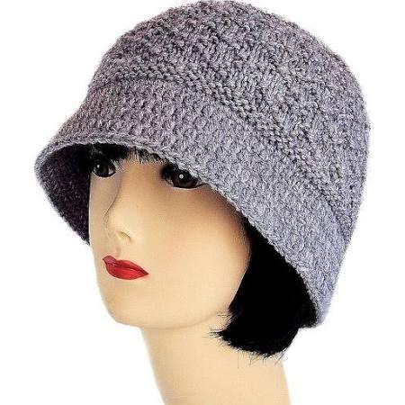 knit cloche with brim pattern - Google Search