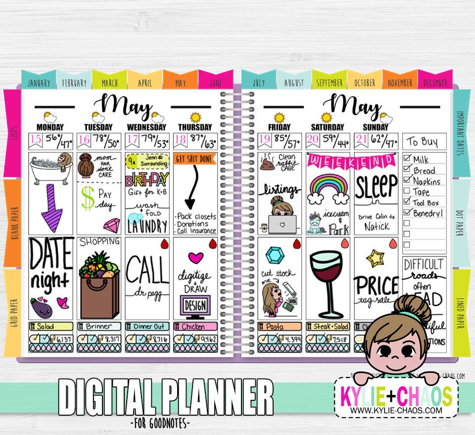 Digital Planner for GoodNotes on IPhone and IPad with   Get