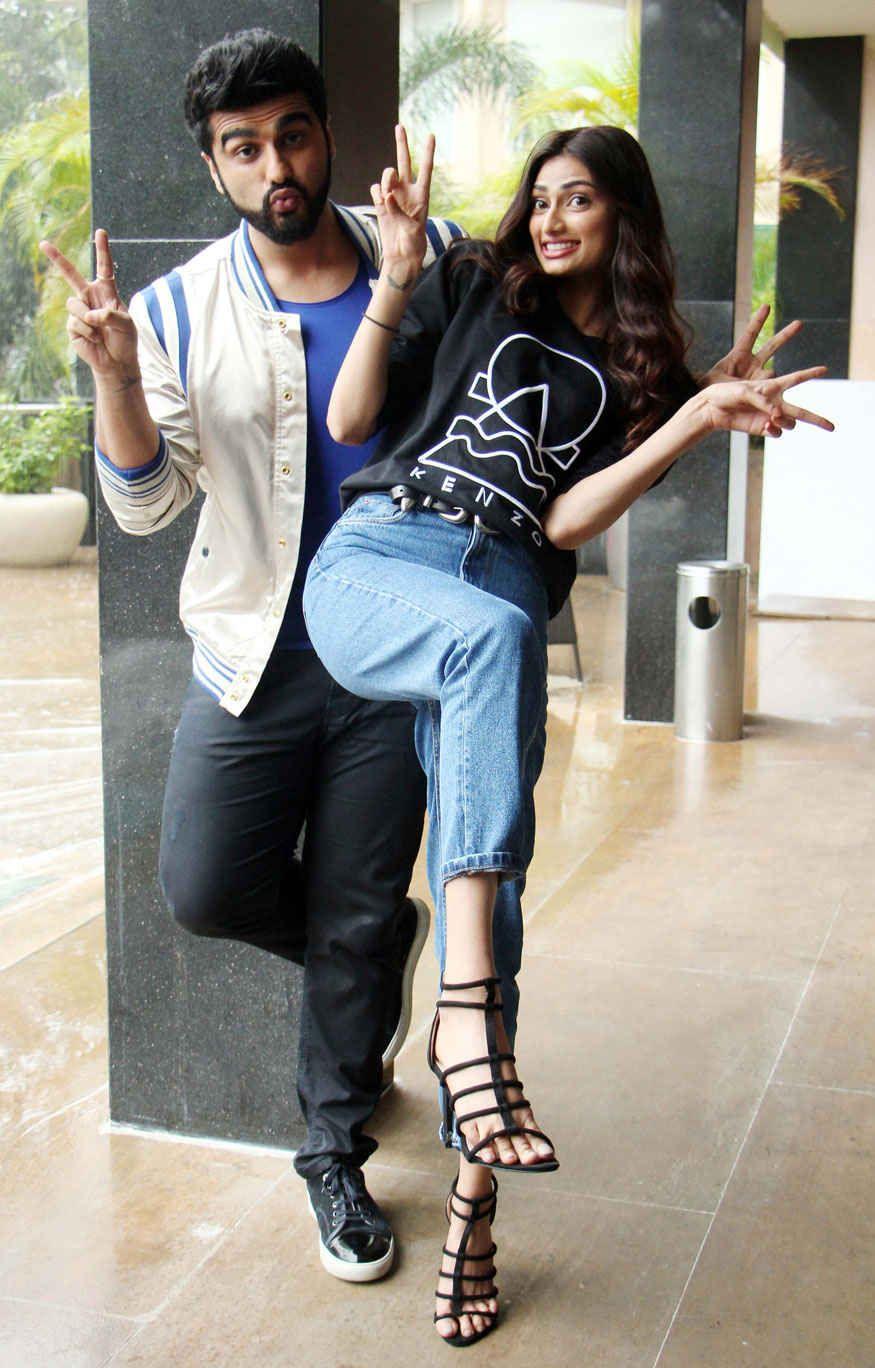 Arjun Kapoor And Athiya Shetty At Novotel Hotel In Mumbai Arjun