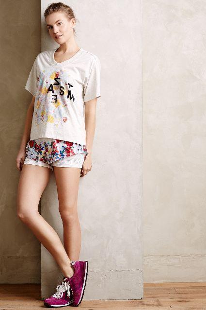 Shorts con con volantes de 14415 flores con volantes Adidas de Shorts Stella McCartney #anthrofave f3124cc - colja.host
