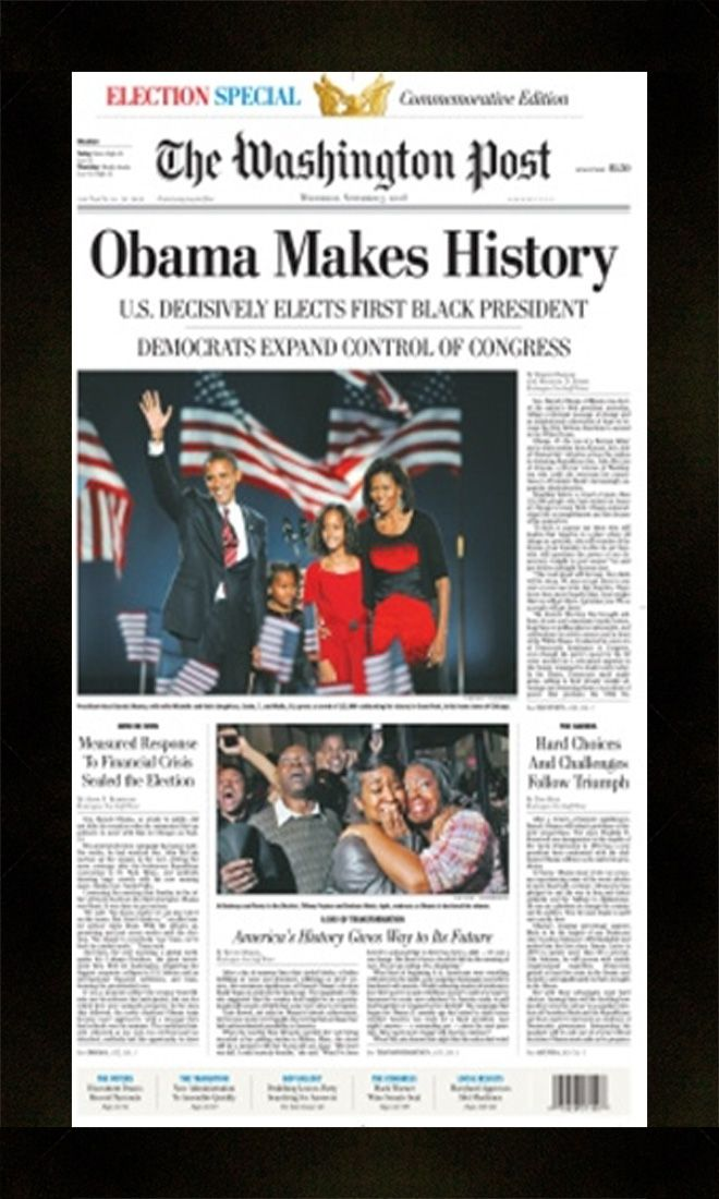 obama new york times newspaper frame frame 203 matte black 1 316
