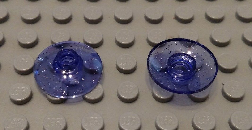LEGO Lot of 4 Blue 2x2 Space Radar Dish Pieces