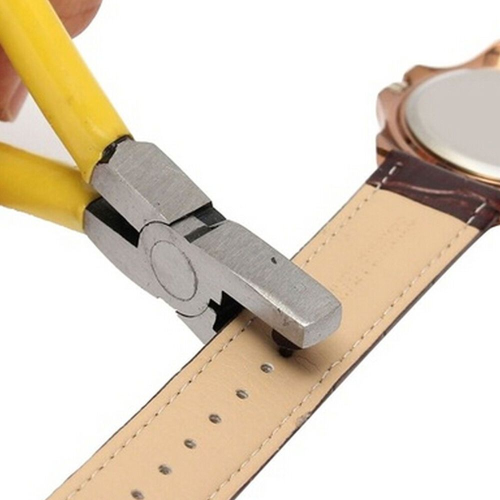Leather Band Small Hand Punch Wristband Belt Hole Pliers Tool DIY Craft Portable