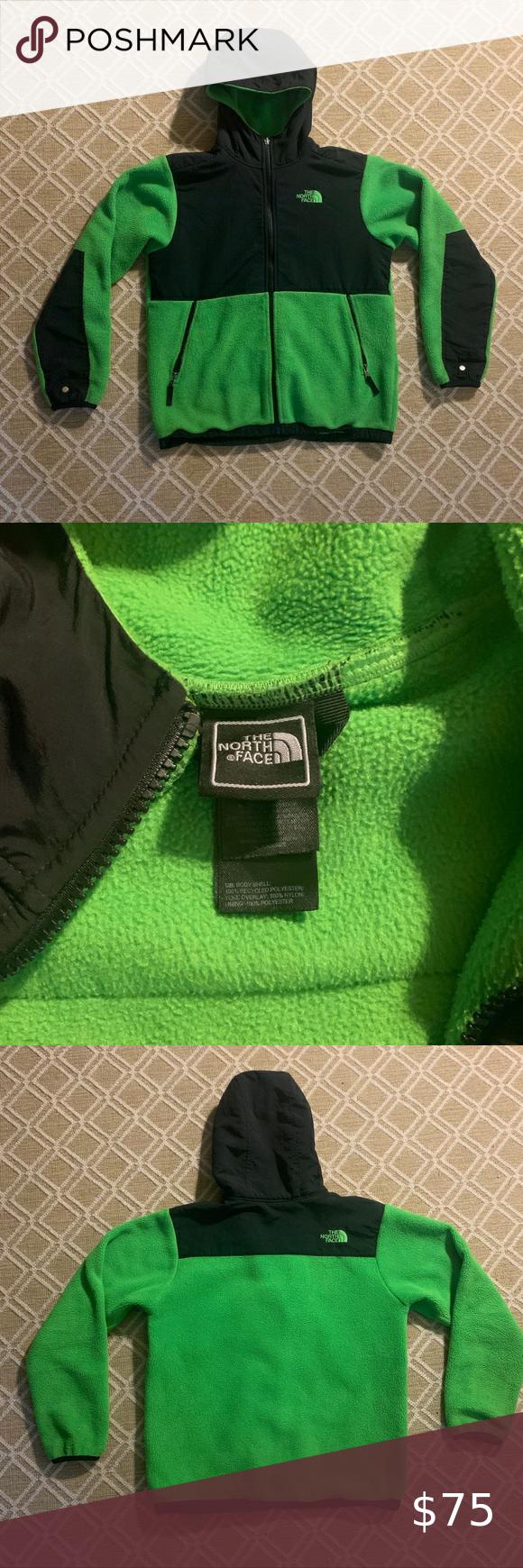Bright Green North Face Fleece Neon Lime Green North Face Fleece Jacket Size Kids 14 16 Or North Face Fleece North Face Fleece Jacket White North Face Jacket [ 1740 x 580 Pixel ]