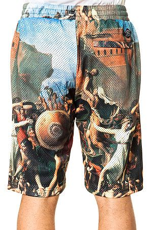 e218097434160 The Pillage Basketball Shorts in Multi by Crooks and Castles