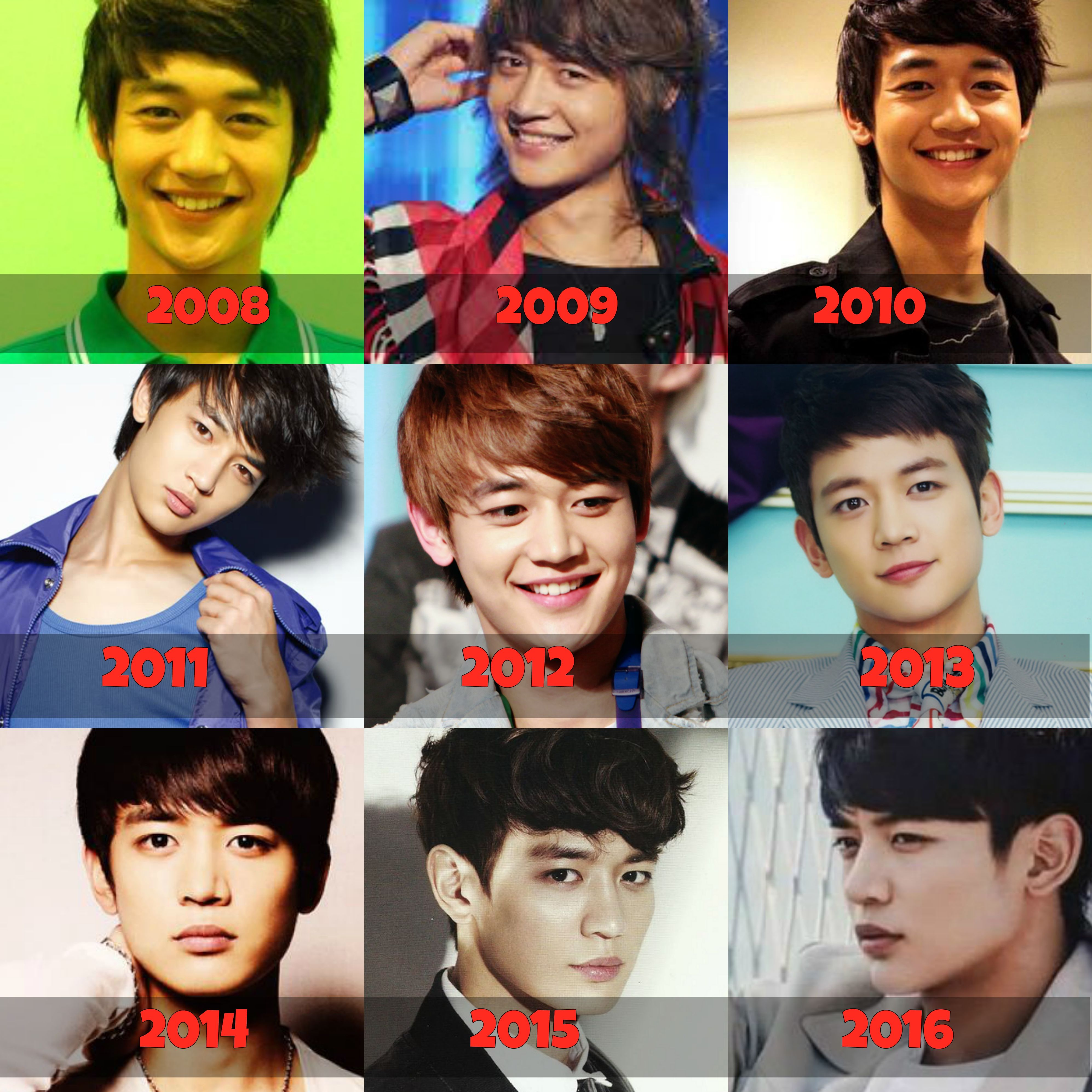 Shinee Choi Minho Through Out The 8 Years Shinee Shinee Minho Choi Min Ho