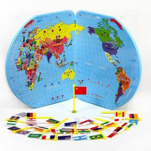 Kingtoy children wooden world map puzzle 3d earth puzzle national kingtoy children wooden world map puzzle 3d earth puzzle national flag kids educational world map wooden gumiabroncs