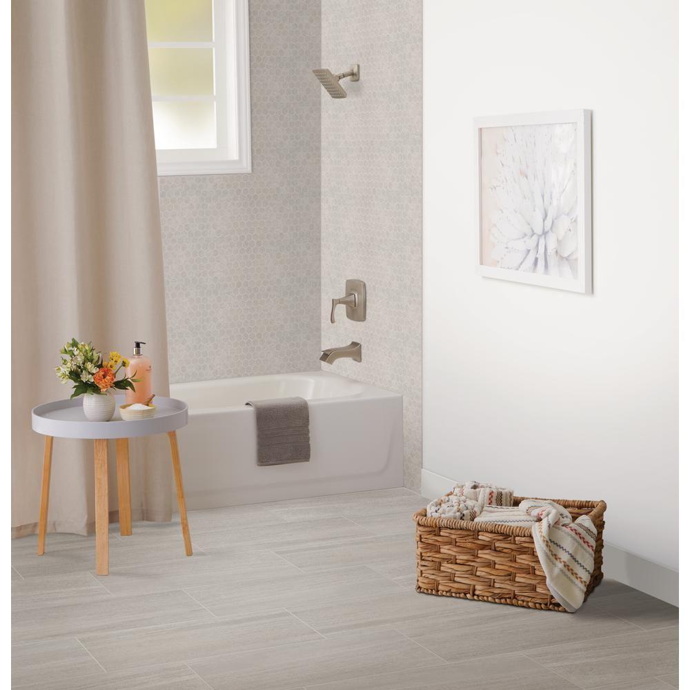 Merola Tile Arte Grey Encaustic 93/4 in. x 93/4 in