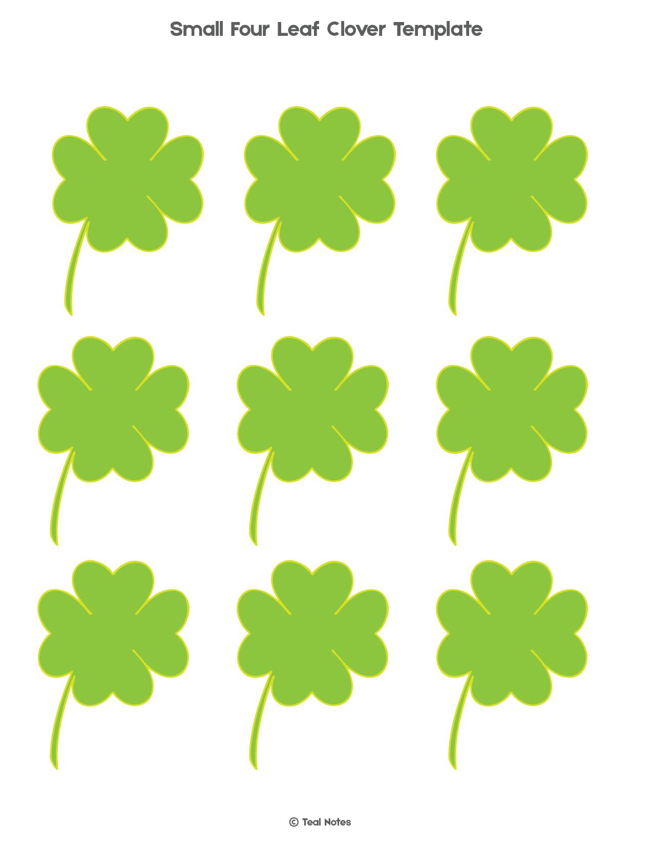 Four Leaf Clover Template: Free Shamrock Template ...