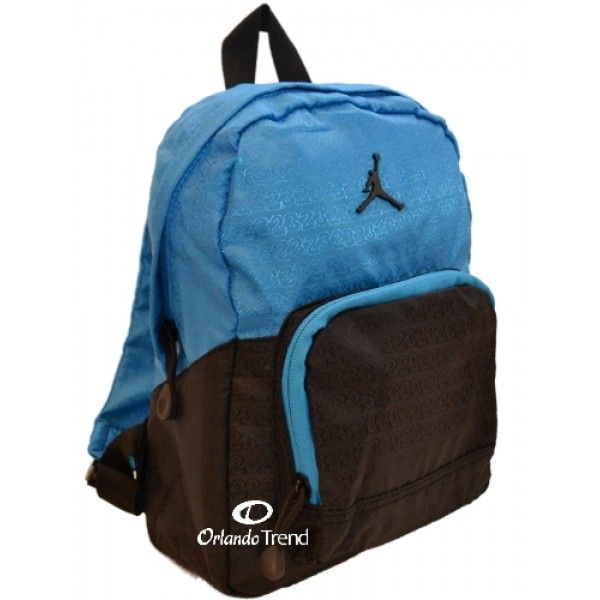 ef8110490c32 Nike Air Jordan Black and Bue Preschool Boy Backpack at OrlandoTrend.com   OrlandoTrend