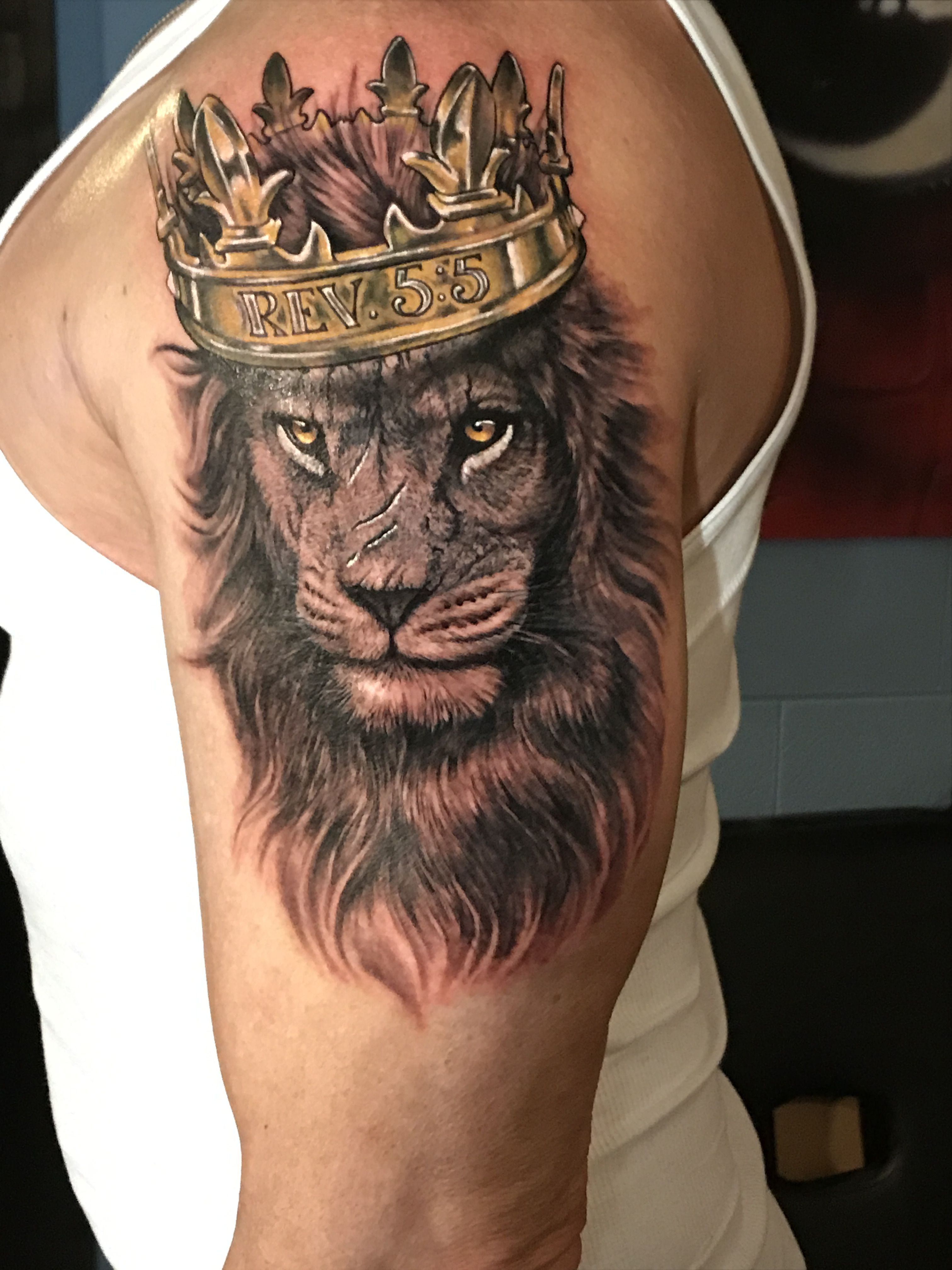 My First Lion Tattoo Knight Tattoo Lion Head Tattoos