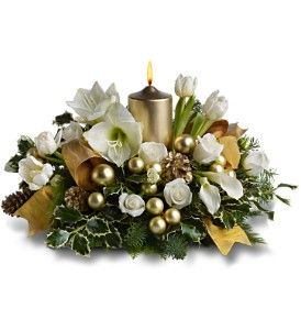 This elegant centerpiece would be gorgeous for New Years on a table or sent as a gift. TFWEB476