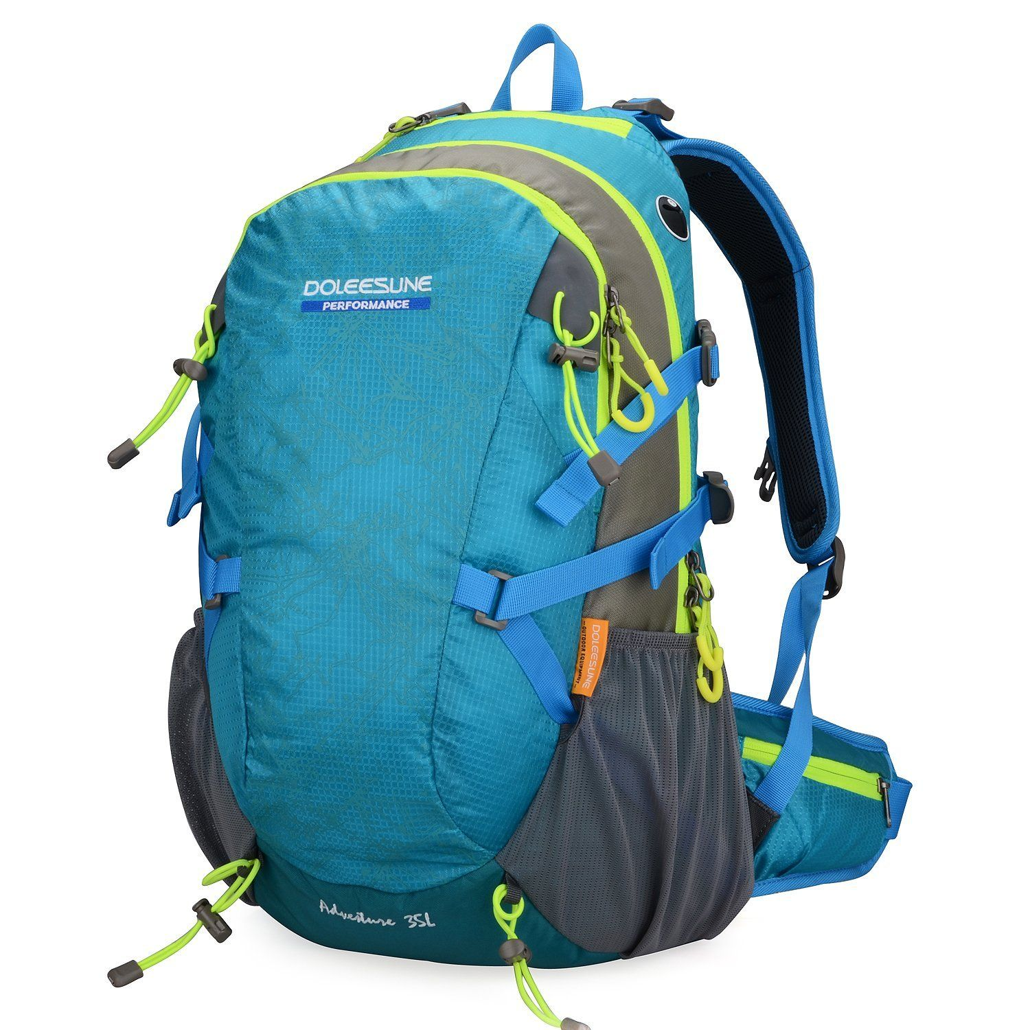 Doleesune Outdoor Hiking Daypacks Climbing Cycling Backpack Hiking Backpacking Packs Waterproof Mountaineering Bag 35l 8103 * Additional details at the pin image, click it  : backpacking packs