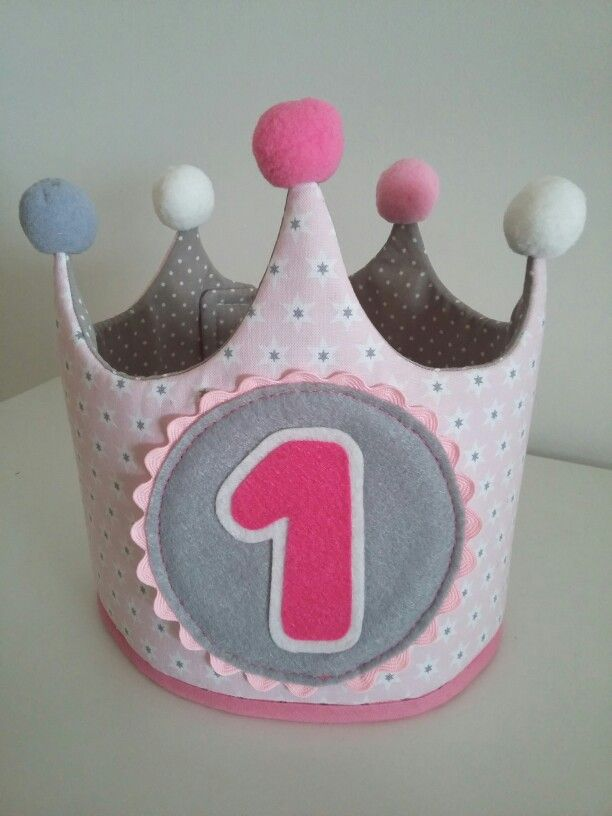 First birthday fabric crown - Primer Cumpleaños Corona Tela  ba34e08fda3