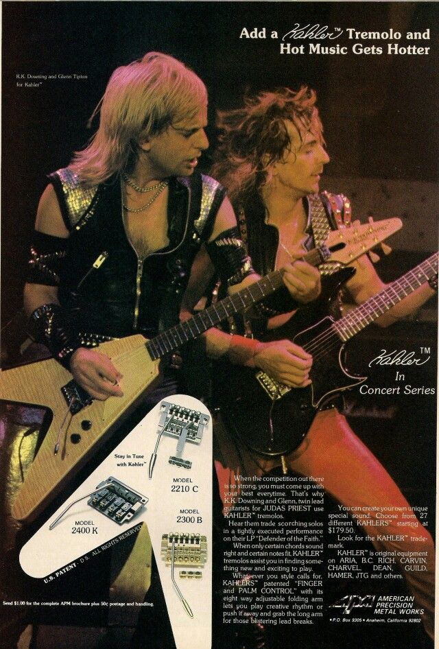 K.K. Downing & Glenn Tipton of Judas Priest during the Defenders of the Faith tour.
