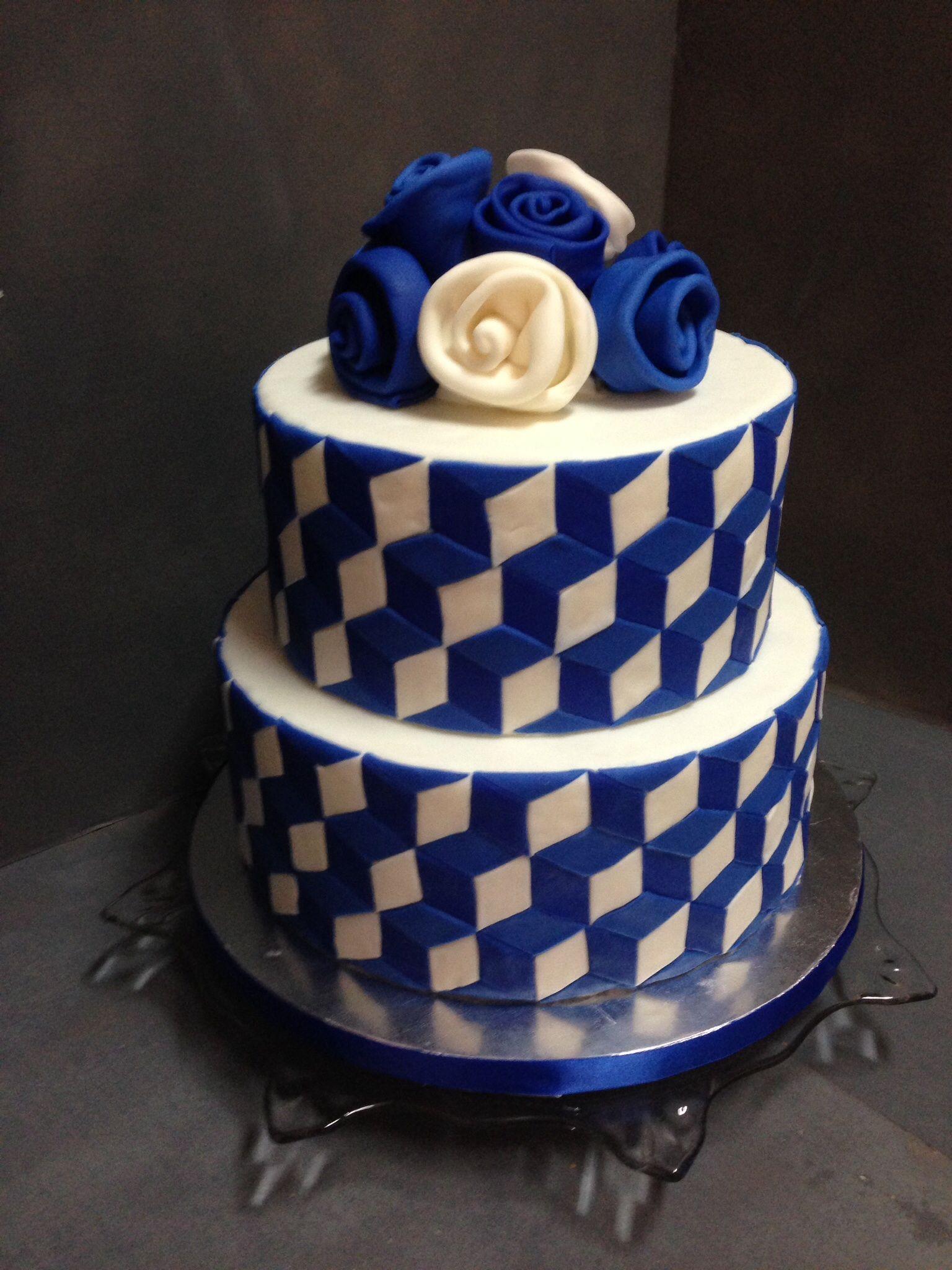 Optical Illusion Cake Geometric Cake Cake Modeling