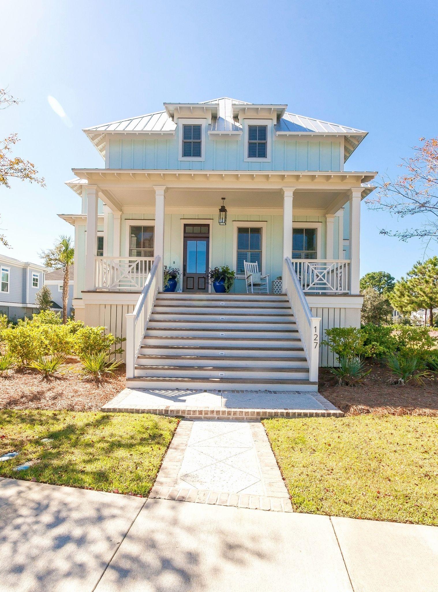 Image Result For Key West Style Stilt House Plans Cottage House Plans Coastal House Plans Narrow House Plans
