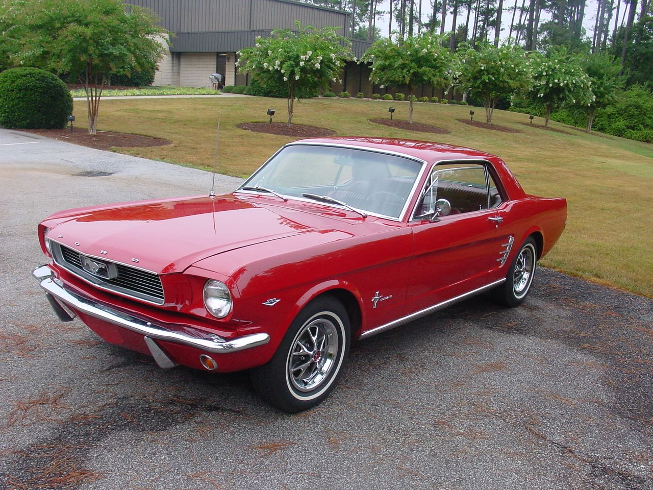 1965 candy apple red mustang i almost bought this car but couldnt afford it if i get rich i will buy it yet