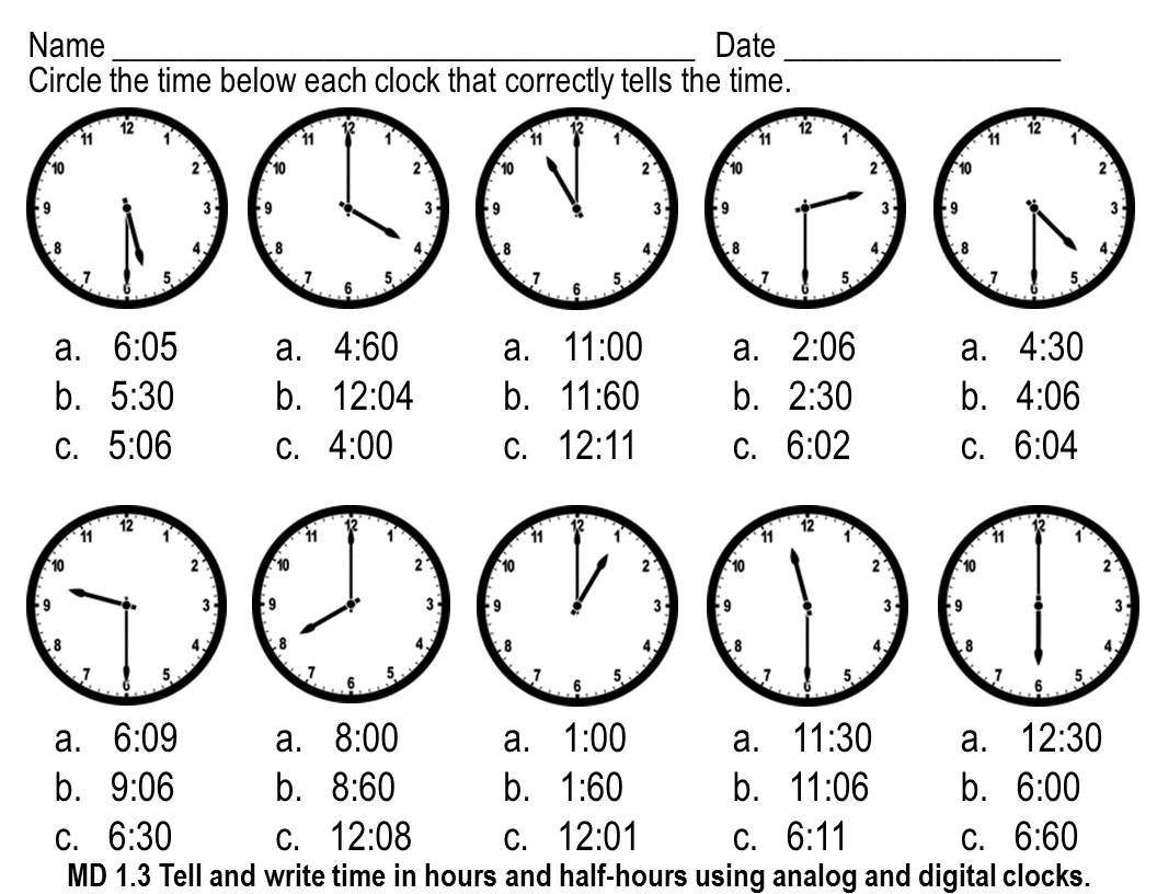 Telling Time Worksheets Multiple Choice Time Worksheets Telling Time Worksheets Clock Worksheets