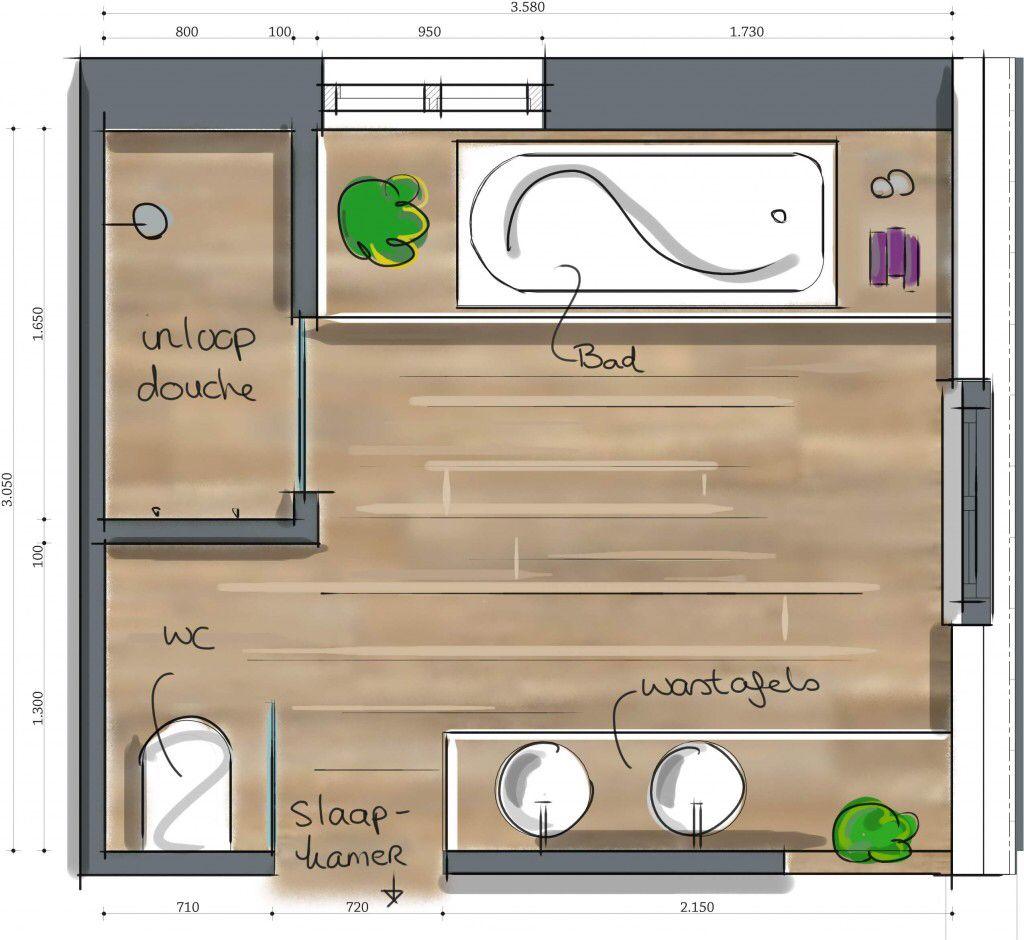 indeling idee badkamer pinterest