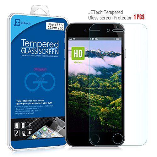 "iPhone 6 Plus Screen Protector, JETech® Premium Tempered Glass Screen Protector for Apple iPhone 6 Plus 5.5"" JETech"