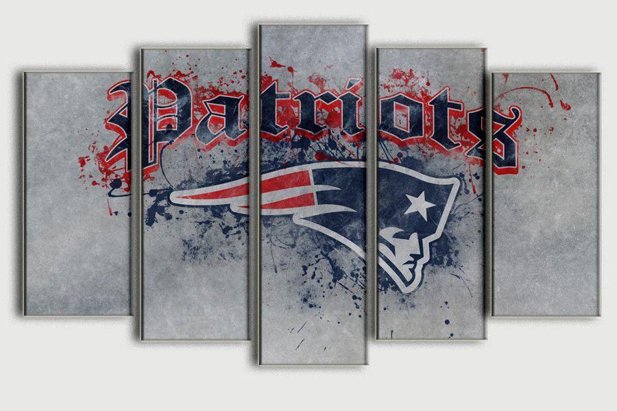New England Patriots Patriotic Posters Canvas Wall Art Canvas