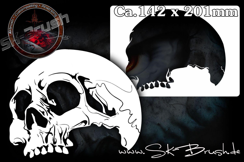 Skull 18 Airbrush Schablone Schadel Totenkopfe Skull Ca A5 Schadel Schablone Airbrush Schablonen Schablonen