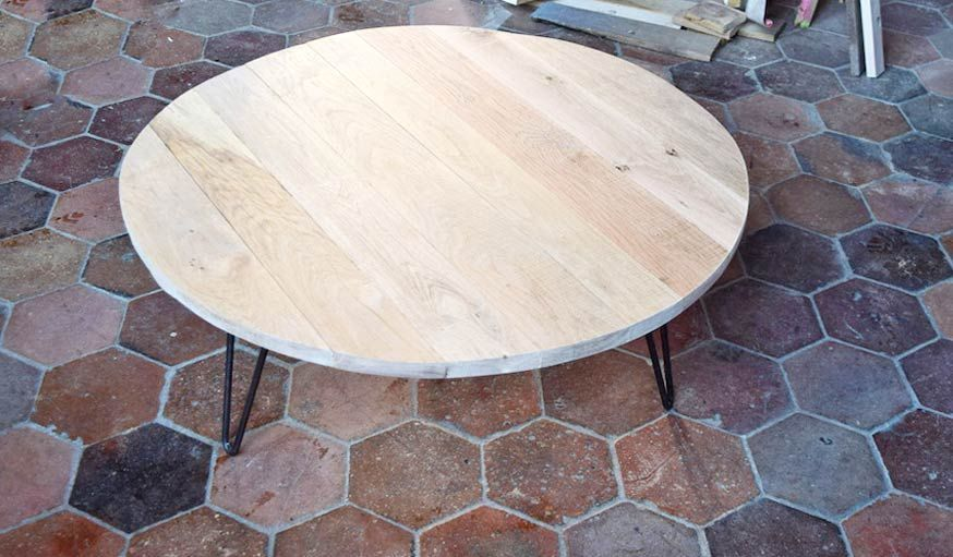Diy Pour Fabriquer Une Table Basse Ronde En Bois Brut Table De Salon Table Basse Bois Table Basse Bois Brut Fabriquer Une Table Basse
