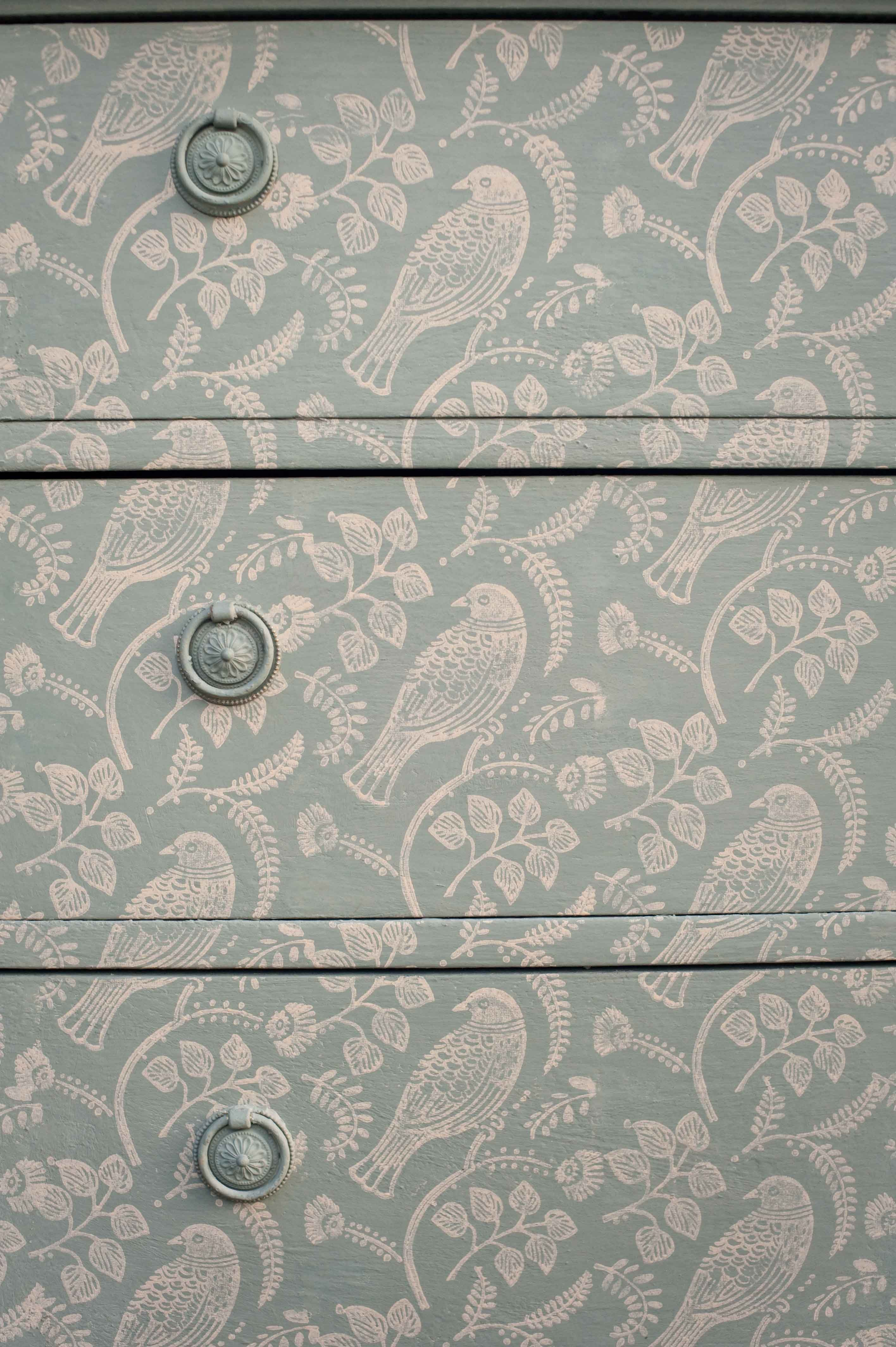 Printed Paint Rollers chest printed with tuvi patterned paint roller from the-painted