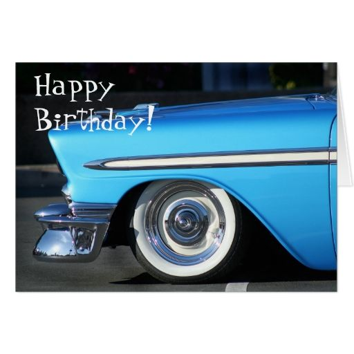 Vintage Car Birthday Images