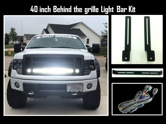 40 Inch Led Light Bar And Behind The Gri Ford Trucks F150 Bar Lighting Led Light Bars