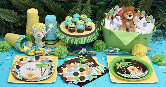 King Of The Jungle Baby Shower Decorations Free Shipping Offer Jungle Theme  Baby Shower Ideas 575x300