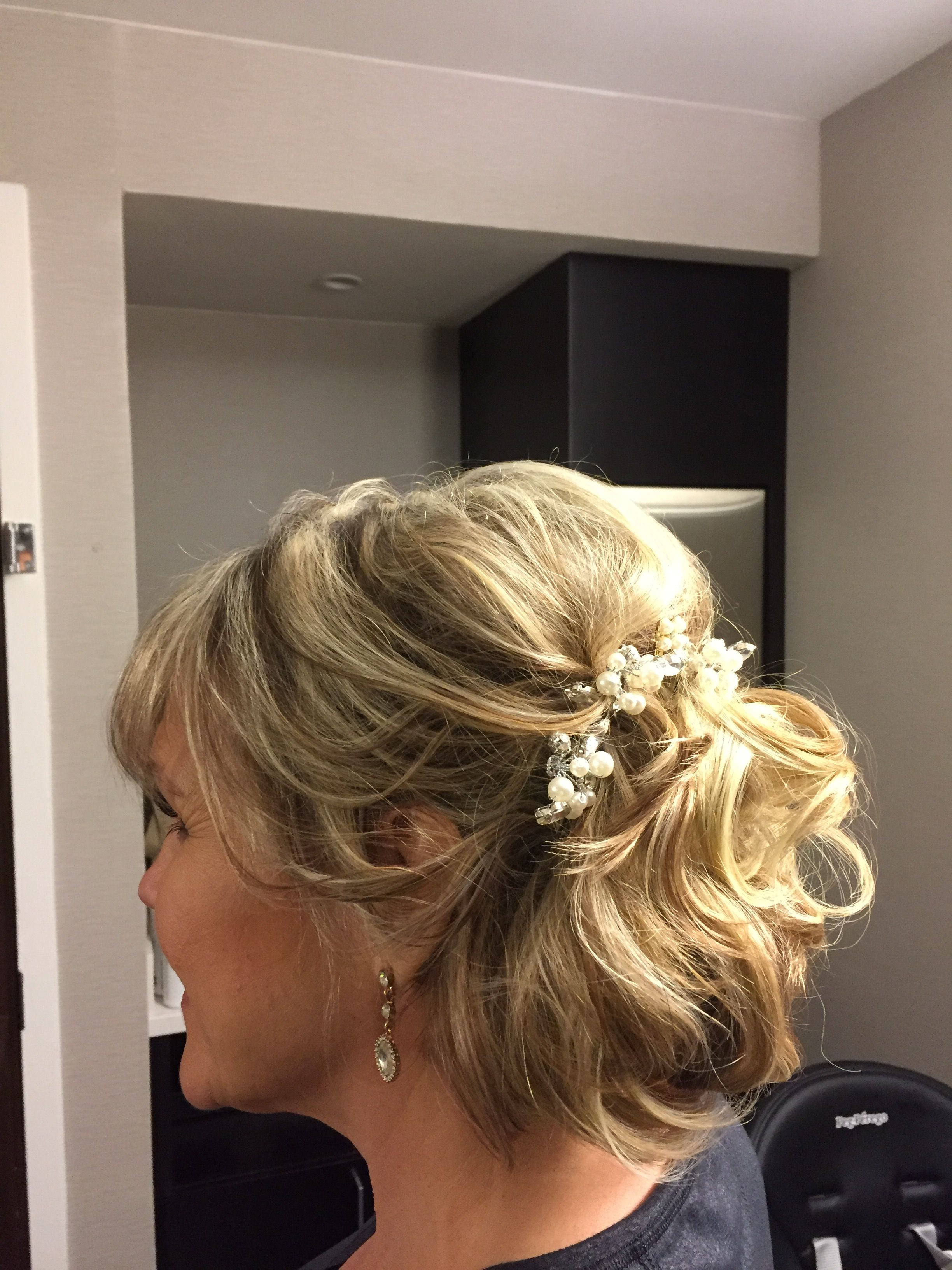 Pin By Kim Salaya On Mob Hairstyles Mother Of The Groom Hairstyles Mother Of The Bride Hair Short Hair Updo