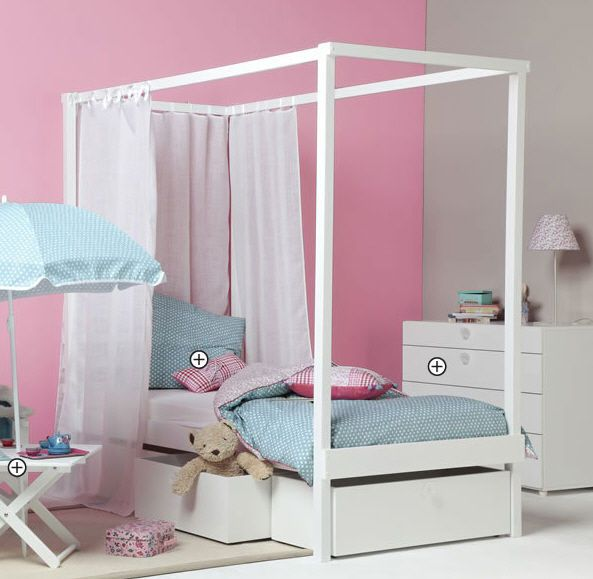 Kids canopy bed (girls) - Vibel & Kids canopy bed (girls) - Vibel | Kids stuff | Pinterest | Canopy ...