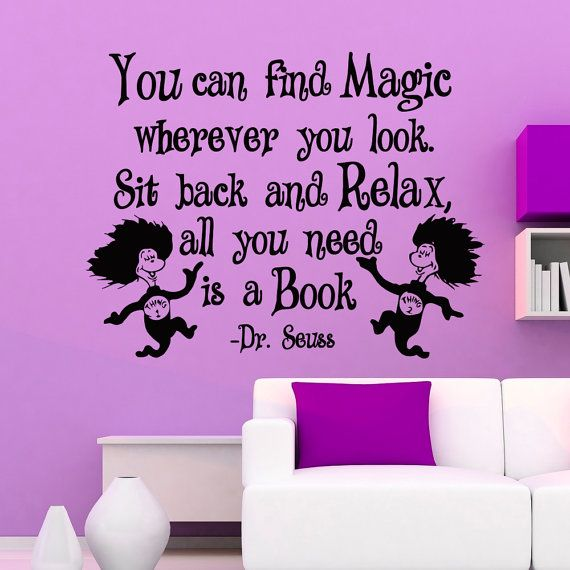 Dr Seuss Wall Decals Quotes You Can Find Magic Wherever You Look - Dr seuss nursery wall decals