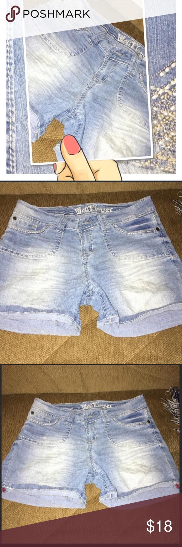 for wallflower jean shorts soft jeans jr size light blue denim see measurements chart also in my posh picks rh pinterest