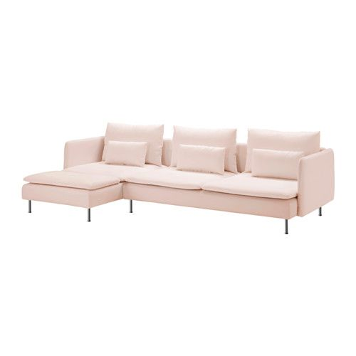 SDERHAMN Sectional 4 Seat Samsta With Chaise Light Pink