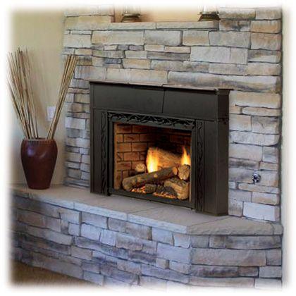 Like Stone Gas Fireplace Insert Fireplace Inserts Gas Fireplace