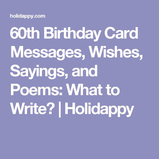 60th birthday card messages wishes sayings and poems what to 60th birthday card messages wishes sayings and poems what to write bookmarktalkfo Image collections