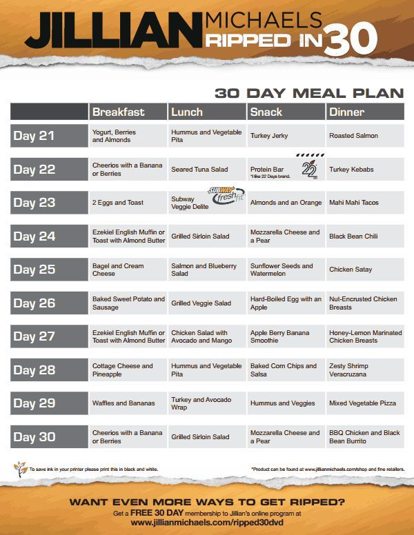 jillian-michaels-ripped-in-30-meal-plan-v.pdf | Oh so fit ...