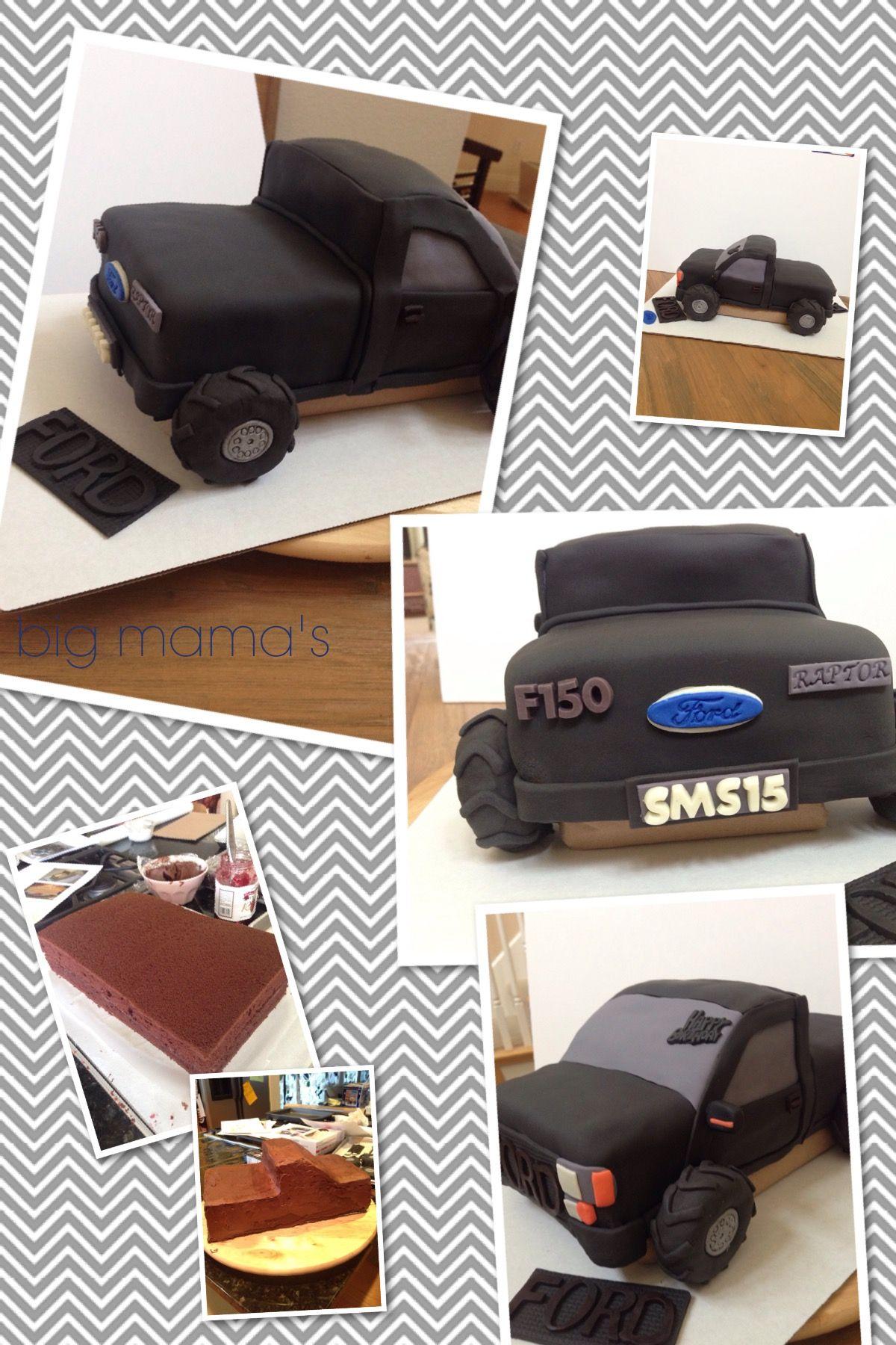 Custom Ford Raptor truck cake bigmamasugarcookies