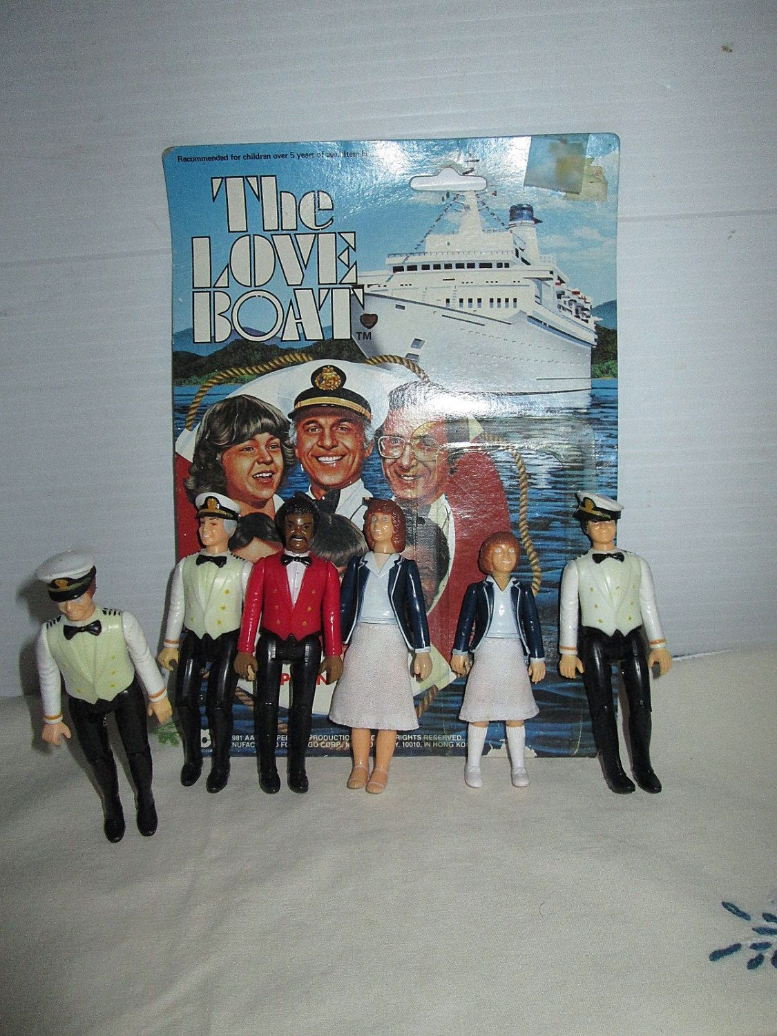 Vintage Action Figures Love Boat Full Set 1981 With One Card by suburbantreasure on Etsy