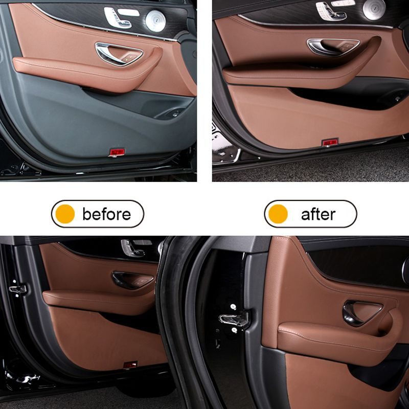 Car Door Leather Anti Scrape Cover Stickers Car Accessories For