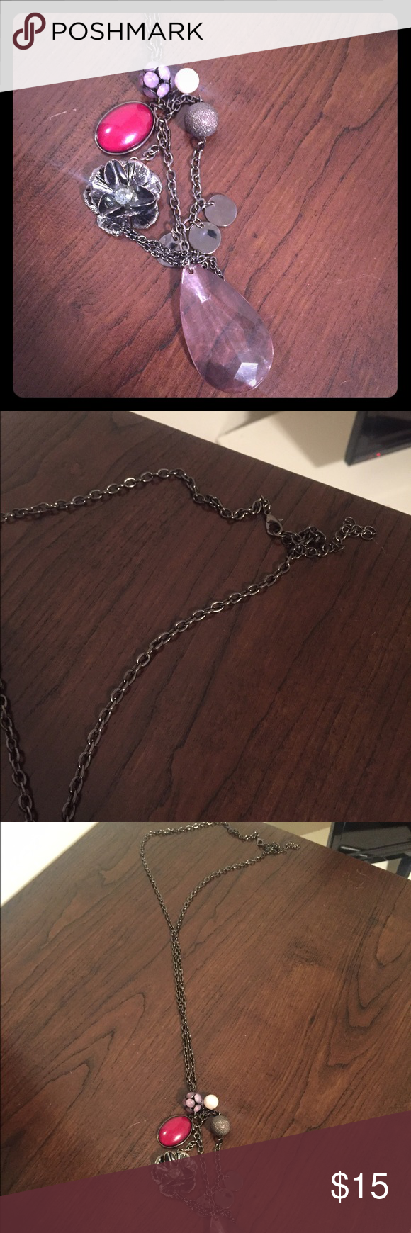 Long necklace Brand new. Worn a couple times Jewelry Necklaces